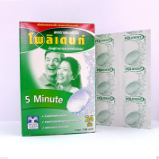 Polident Anti Bacteria Denture Cleanser 24 Tablets Brighter Fresh 5 Minute
