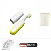 Going In Style Travel Toothbrush Battery Powered Sonic Traveller with Backup AAA Duracell Battery Set