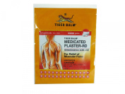 Tiger Balm Medicated Rd Warm Plaster Pains Relief, BIG Size 7 Cm X 10 Cm (2 Plasters:1bag) X 10 Packs