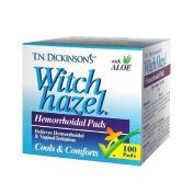 T.N. Dickinson's Witch Hazel Hemorrhoidal Pads 100 ea