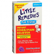 Little Fevers Infant Fever/Pain Reliever Acetaminophen, Dye-Free, Grape 60ml