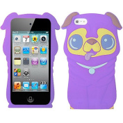Purple Dog Silicon Soft Rubber Skin Case Cover For Apple iPod Touch iTouch 4 4G