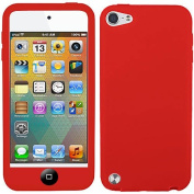 Red Black Button Silicon Soft Rubber Skin Case Cover For Apple iPod Touch iTouch 5