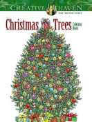 Creative Haven Christmas Trees Coloring Book