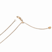 Leslies 14k Rose Gold Adjustable .8mm Box Chain