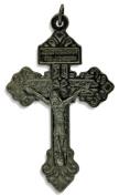 Lot of 3- Pardon Crucifix Cross Large 2-1/8 Pendant Italy Indulgence Rosary Crucifix Pendant Gun Metal