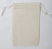 Cotton Muslin Bags 7.6cm x 13cm Double Drawstring 50 Count Pack