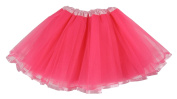 Hairbows Unlimited Hot Pink with Light Pink Ribbon Lined Ballet Tutu