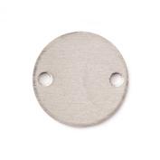 RMP Stamping Blanks, 1.9cm Round with 2 Holes, Aluminium .160cm (14 Ga.) - 50 Pack