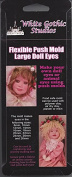 Large Doll Eye Push Mould in Silicone