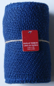 Navy Blue Burlap Ribbon Roll - 14cm x 4.6m