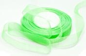Organza Ribbon - 1.9cm Wide - 50 Yard Spool - - Light Green