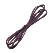 Water & Wood 1m Faux Suede Cord Craft Lace Leather Flat Cord DIY Rope Strings Bracelet Deep Purple