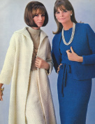 Vintage Crochet PATTERN/INSTRUCTIONS to make - Long Coat Skirt Suit Short Jacket Dress Suit. NOT a finished item. This is a pattern and/or instructions to make the item only.