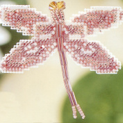 Rose Dragonfly Beaded Counted Cross Stitch Ornament Kit Mill Hill 2000 Spring Bouquet MHDF5