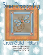 Blue Dragonfly Cross Stitch Pattern