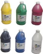 Sax True Flow Medium-Bodied Acrylic Paint - 1.9l - Set of 6 - Assorted Colours