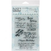 MSE Stamp Sheet, 10cm by 15cm , Inspirational Birthday, Clear