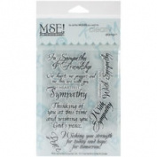 MSE Stamp Sheet, 10cm by 15cm , Sympathy, Clear