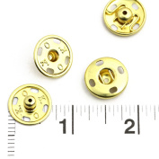 60 Sets of High Quality Sew-on Snaps, 17mm, Gold