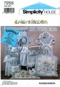 Simplicity 7255 Sewing Pattern Daisy Kingdom Baby Nursery Room Decor Accessories