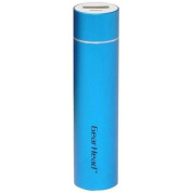 Gear Head PB2200BLU Pocket-Size Mobile Powerbank with Micro USB Charging Cable, Blue