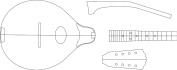 A style Mandolin Layout Template - Guitar Building