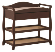 Stork Craft Aspen Changing Table with Drawer, Cherry