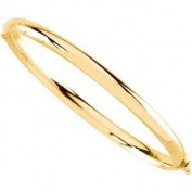 Gorgeous Designer Jewellery 14K Yellow Gold 4 mm Bangle Bracelet. Round Bangle Bracelet In 14K Yellow Gold
