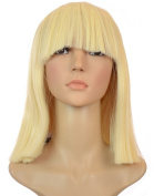 Blonde Sia Thick Blunt Bob Wig | Blunt Fringe | Blonde Cleopatra Style Wig