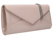 SWANKYSWANS Perry Envelope Style Patent Leather Evening Purse Wedding Prom Party Clutch Bag
