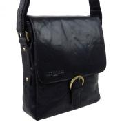 Classic Leather Messenger Cross Body Bag by Woodbridge London Gift Handy