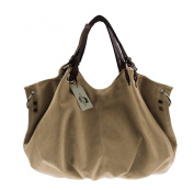 KISS GOLD(TM) European Style Canvas Tote/Shoulder Bag