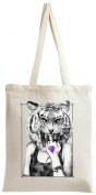 Wild Hipster Tiger Tote Bag