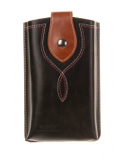 KISS GOLD(TM) Men's Fake Leather Cellphone Pouch Sleeve Waist Packs with Belt Loop