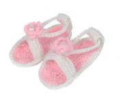 Bigood Newborn Baby Girl Infant Crochet Knit Sandals Prewalker Roman Shoes Pink