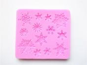 Longzang Small Snowflake Silicone Mould Sugar Craft DIY Gumpaste Cake Decorating Clay