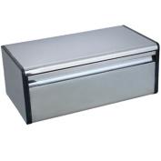 Home Discount Steel Kitchen Rectangular Bread Bin Drop Front.