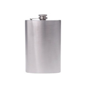 ParaCity Stainless Steel Portable Hip Pocket Liquor Wine Whiskey Pot Flagon Flask Kettle Bottle With Stainless Steel Screw Cap