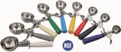 Stainless steel ice cream scoop, ice tongs, ice cream, ice cream spoon, Ice Scoop, scrapers, handle - yellow