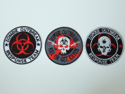 Zombie Outbreak Response Team Biohazard [Set of 3 Patches]