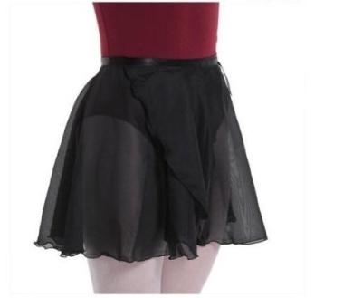 . Women's & Girl's Ballet Wrap Skirt Dance Skate Wrap Scarf Black
