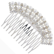 Vintage Classic Pearl Arc Ivory Bridal Hair Comb Clip