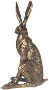 'Sitting Hare' Large Bronze Hare Sculpture by Paul Jenkins - Frith