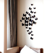 Domire 12 Pcs 3D Butterfly Stickers Making Stickers Wall Stickers Crafts Butterflies ,Black