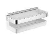 Keuco 12759010000 Shower Basket Synthetic Insert - Chrome/ White/ Glass Wiper