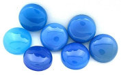 TWO 15mm Round Blue Agate Cab Cabochon Gem Stone Gemstone BAC5