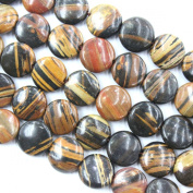 Natural Colour Wood Opal Coin 12mm Gemstone Beads Jewellery Making Findings