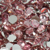 2000 Pcs 3mm 14 Facets Resin Round Rhinestone Flat Back Bling Shine Pink Colour 03