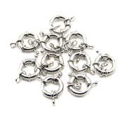 Beautiful Bead 10 * DIY 2.1 cm Diameter Pinch Clasp Circle Buckles Connectors Bracelet Silver Colour